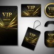 Vip cards set — Stock Vector
