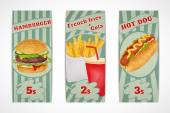 Fast food banners — Stock Vector