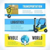 Logistic horizontal banners — Stockvector