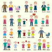 Family icons set — Stock Vector