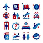 Luchthaven icons set — Stockvector