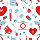 Padrão sem emenda de medicina — Vetor de Stock
