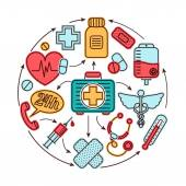 Medische pictogrammen concept — Stockvector
