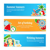 Holiday banners set — Stock Vector