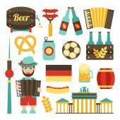 Germany travel set — Stock Vector