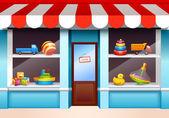Toys shop window — Stock Vector