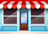 Empty store front — Stock Vector