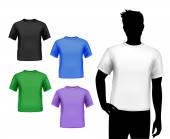 T-shirts male set — Stock Vector