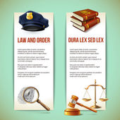 Law vertical banners — Stock Vector