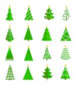 Christmas tree icons flat — Stock Vector