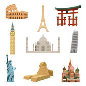 World famous landmarks — Stock Vector