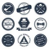 Hipster labels set — Stock Vector