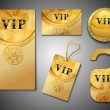 Vip cards design template — Stock Vector