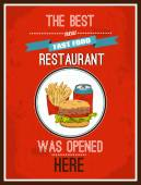 Hotdog poster — Stock Vector