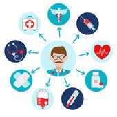 Medische icons set — Stockvector