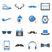 Hipster icons set — Stock Vector
