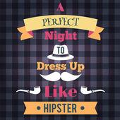 Hipster retro poster — Stock Vector