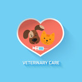 Veterinary heart symbol — Stockvektor