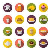 Breakfast icon flat — Stock Vector