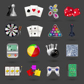 Game icons set — Stock Vector