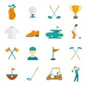Golf icons set — Stock Vector