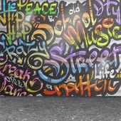 涂鸦墙背景 — 图库矢量图片