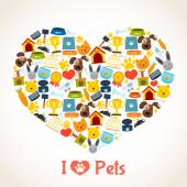 Pets care concept — Stock Vector