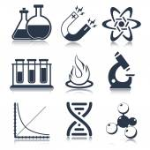 Physics Science Icons — Stock Vector