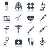 Tıbbi simge seti — Stok Vektör