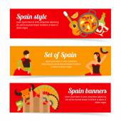 Spain banners set — Stock Vector