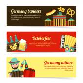 Germany travel banner set — Stock Vector