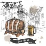 Beer bar menu poster — Stock Vector #52405269