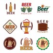 Beer colored emblems — Stock Vector #52408739
