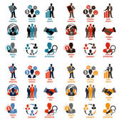 Business and management icons — Stock Vector