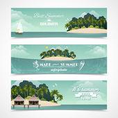 Island horizontal banners — Vector de stock