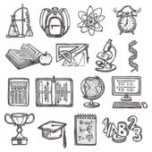School education sketch icons — Stock Vector