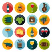 Wine Icons Set — Vector de stock