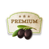 Olive kitchen badge — Stock Vector