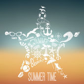 Summer vacation concept — Stock Vector