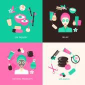 Spa icons concept — Stock Vector