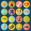 Pets icons set — Stock Vector #52486005