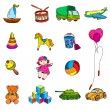 Toys Sketch Icons Set — Stock Vector #52486013