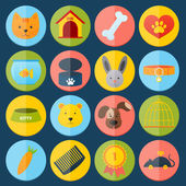 Pets icons set — Stock Vector