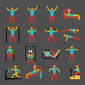 Workout training icons set — Stock Vector