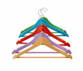 Clothes hangers colored — Stock Vector