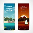 Tropical island vertical banners — Stock Vector #52829413