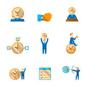 Time management icons set — 图库矢量图片