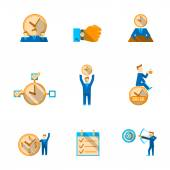 Time management icons set — Vetorial Stock