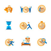 Time management icons set — Stockvector
