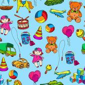 Toys seamless pattern — Stock Vector
